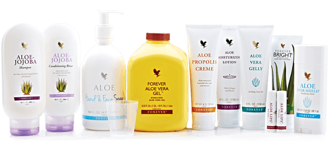forever living aloe gel products