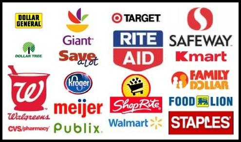 store collage logos